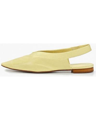 Кожаные туфли с открытой пяткой Mango