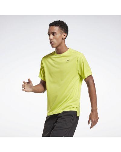 Желтая спортивная футболка с перфорацией Reebok