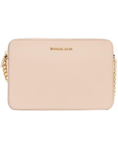 Кожаная сумка через плечо розовый Michael Kors