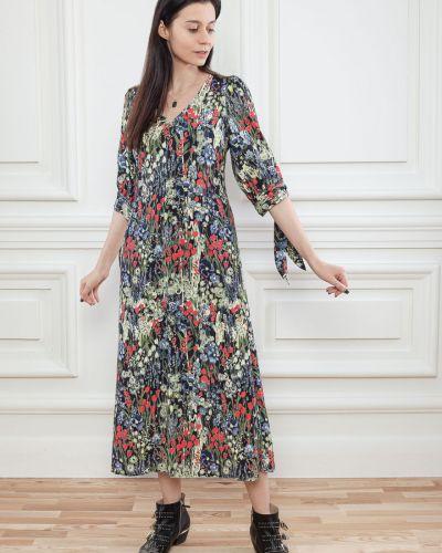 Платье из вискозы на шнуровке Dolcedonna