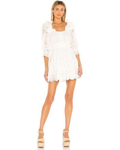 Хлопковое платье мини - белое For Love & Lemons