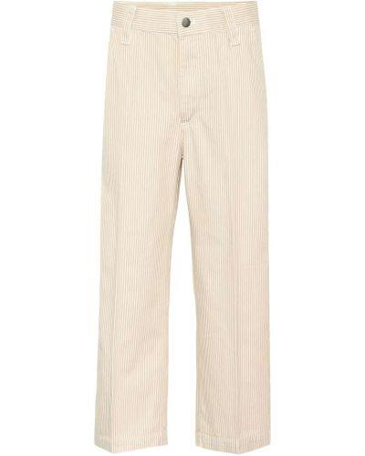 Укороченные брюки в полоску бежевый Marc Jacobs