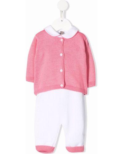 Różowy dres bawełniany z długimi rękawami Little Bear