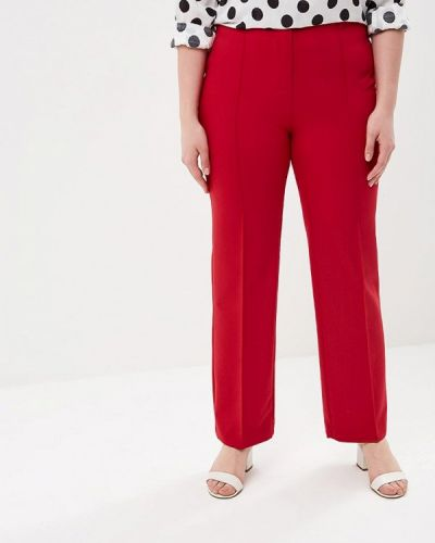 Красные брюки прямые Kr