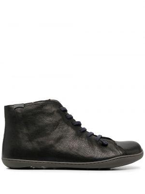 Кожаные черные ботинки на шнуровке Camper