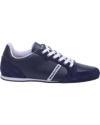 Кроссовки замшевые синий Trussardi Jeans