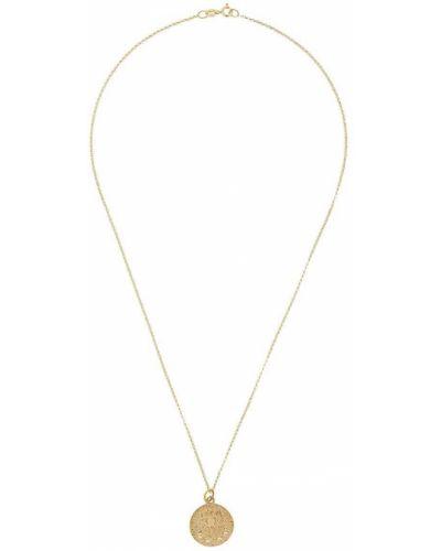 Złoty naszyjnik pozłacany z diamentem Hermina Athens