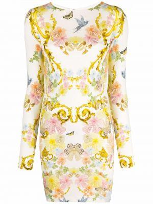 Платье макси длинное - белое Just Cavalli