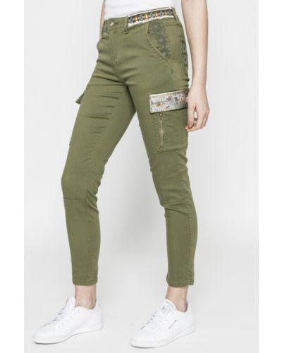 Зауженные брюки карго льняные Desigual