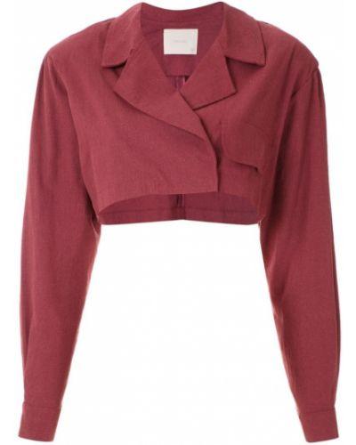 Красная длинная куртка Framed