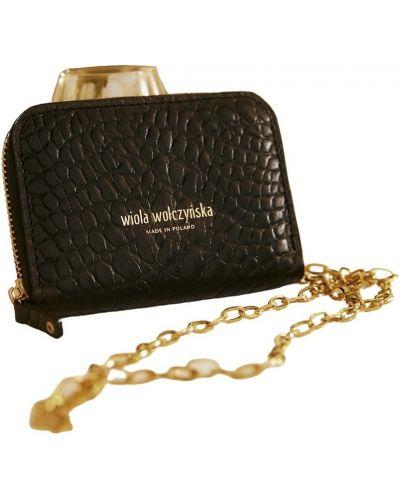 Złoty portfel - czarny Wiola Wołczyńska Essential