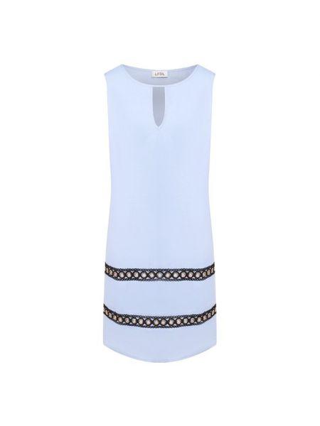 Платье мини короткое - синее La Fabbrica Del Lino