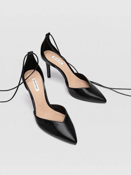 Туфли-лодочки черные осенние Stradivarius