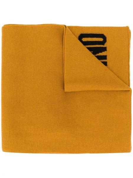 Желтый шарф вязаный Moschino