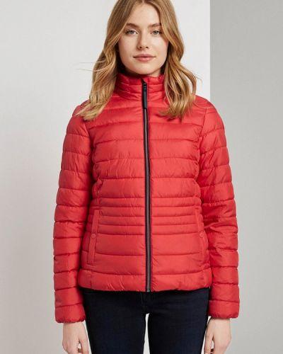 Красная теплая утепленная куртка Tom Tailor