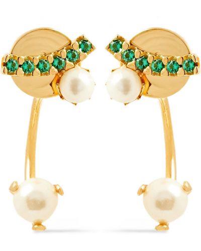 Złote kolczyki sztyfty perły Cornelia Webb