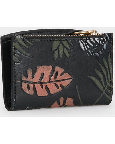 Skórzany portfel mało czarny Parfois