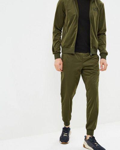 Спортивный костюм зеленый хаки Ea7