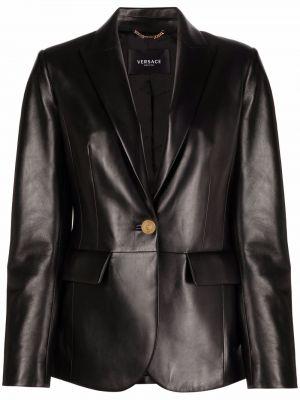 Черный пиджак с лацканами Versace