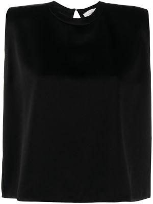 Сатиновая черная блузка без рукавов Ba&sh