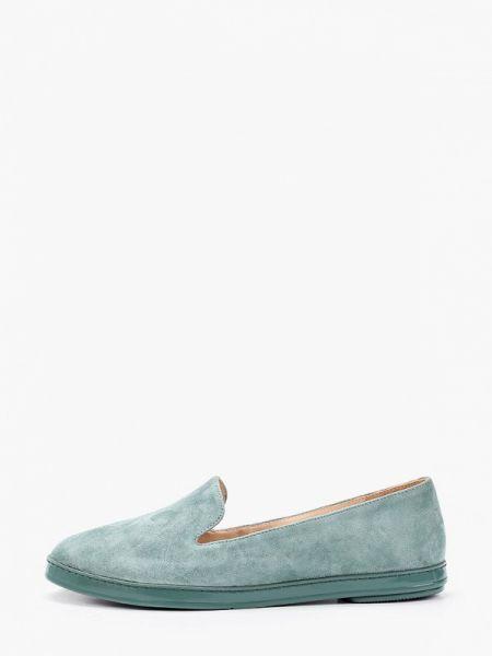 Велюровые бирюзовые туфли Mascotte