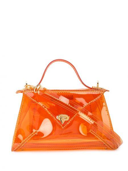 Оранжевая маленькая сумка круглая Tyler Ellis