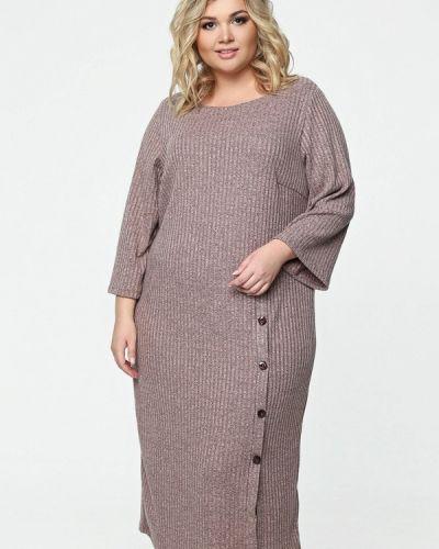 Платье миди - коричневое Matilda