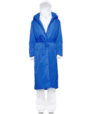 Коралловое длинное пальто с поясом с воротником с аппликациями A_plan_application