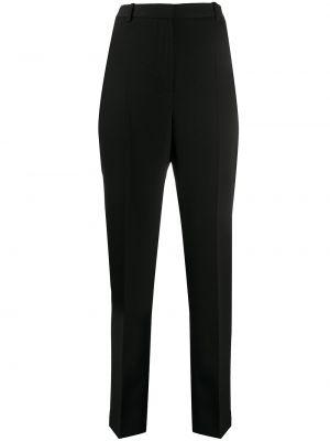 Czarny spodnie z paskiem z wiskozy na hakach Givenchy