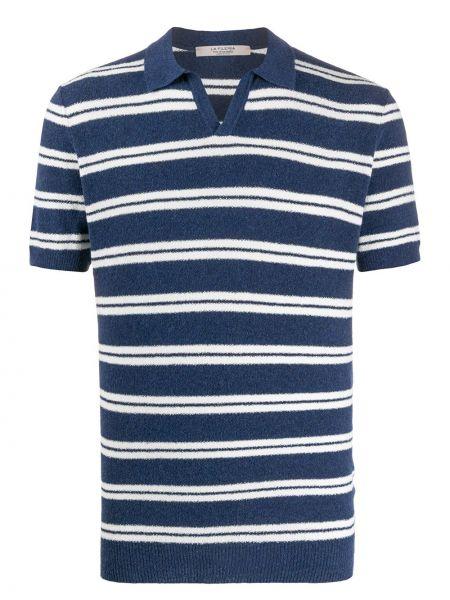 Прямая рубашка с короткими рукавами с воротником с нашивками La Fileria For D'aniello