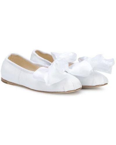 Балетки на каблуке белый Douuod Kids
