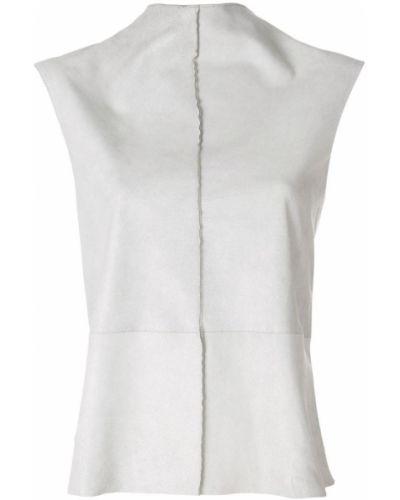Блузка без рукавов с воротником-стойкой прямая Vanderwilt