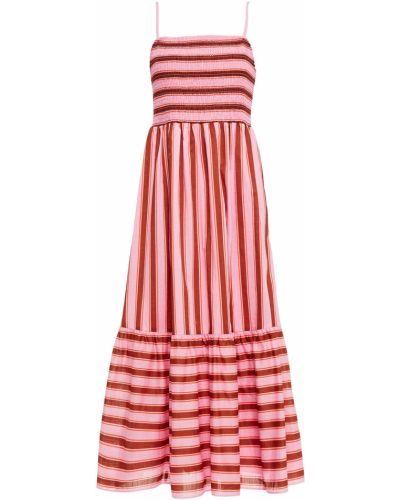 Розовое платье миди с подкладкой в полоску Kate Spade New York