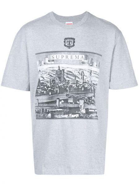 Koszula krótkie z krótkim rękawem z nadrukiem włoski Supreme