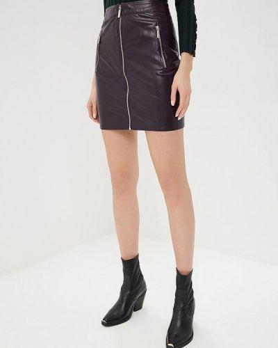 Кожаная юбка фиолетовый Tutto Bene