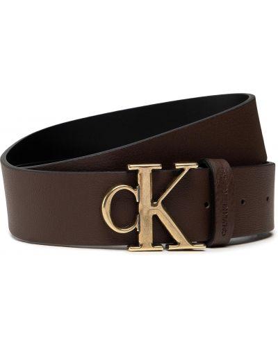 Pasek z paskiem - brązowy Calvin Klein