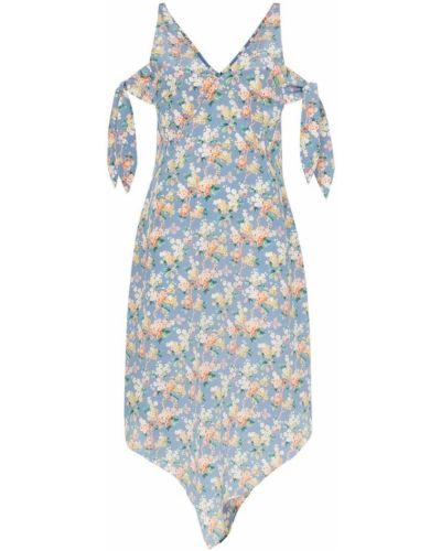 Платье миди на молнии с открытыми плечами Delada