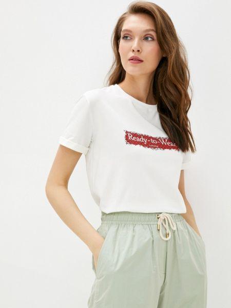 Белая футболка с короткими рукавами Laroom