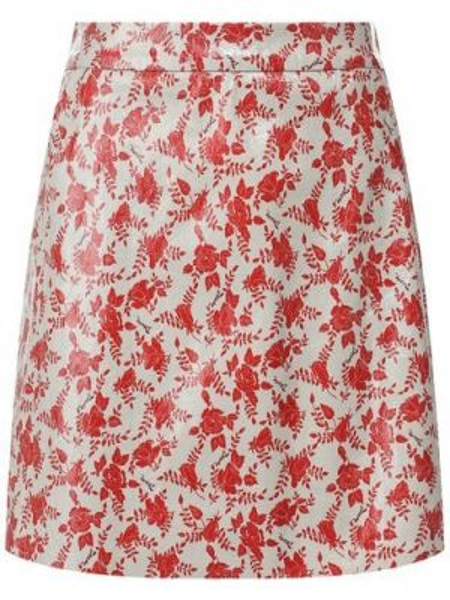 Кожаная юбка - красная Drome