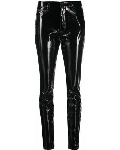 Czarny spodni z wysokim stanem klasyczne spodnie Philipp Plein
