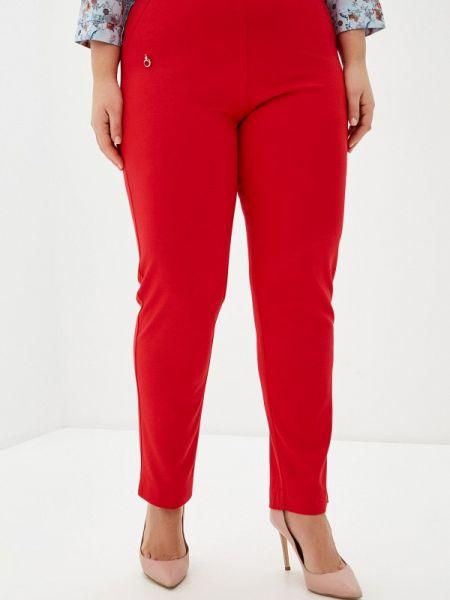 Красные брюки с воротником Over