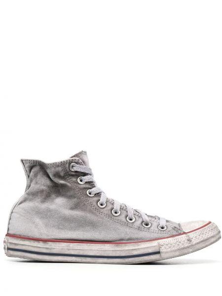 Biały top koronkowy sznurowany Converse