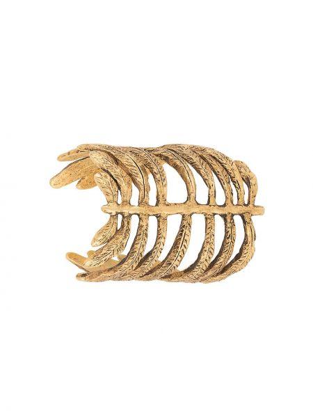 Открытый желтый золотой браслет металлический позолоченный Christian Lacroix Pre-owned