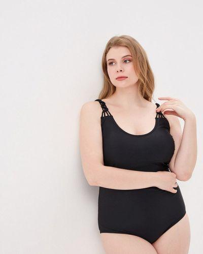 Слитный купальник черный Ulla Popken
