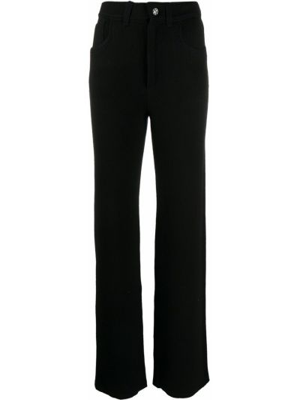 Брючные черные свободные брюки свободного кроя с высокой посадкой Barrie