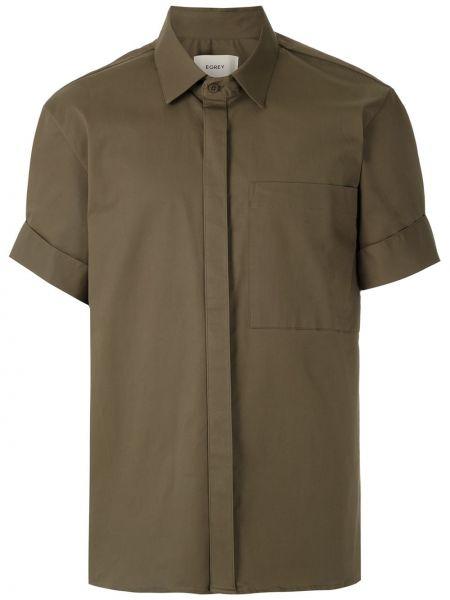 Koszula krótkie z krótkim rękawem klasyczna wojskowy Egrey