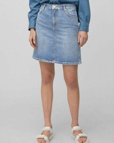 Niebieska spódnica mini bawełniana vintage Marc O Polo