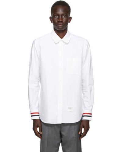 Bawełna bawełna z rękawami koszula oxford z kieszeniami Thom Browne