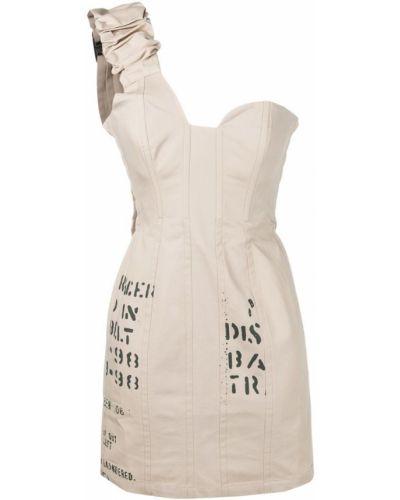 Платье с поясом на одно плечо на молнии Misbhv