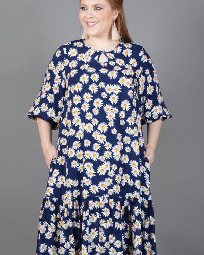 Повседневное платье миди - синее Avigal (avrora)